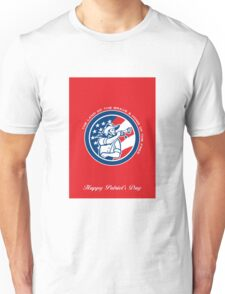 Patriots Day Greeting Card American Cavalry Soldier Blowing Bugle Unisex T-Shirt