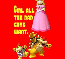 Bowling for Soup  Girl all the bad guys want Mario Peach  by DannyWhite824