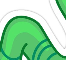 Cute cartoon green worm Sticker