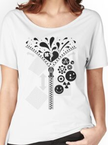 Zipper_Heart Women's Relaxed Fit T-Shirt