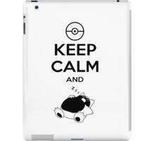 keep calm and snorlax iPad Case/Skin