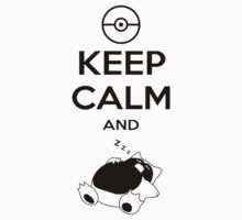 keep calm and snorlax Kids Clothes
