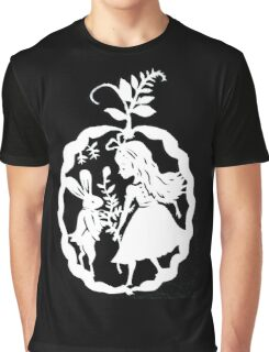 Alice and the White Rabbit Graphic T-Shirt