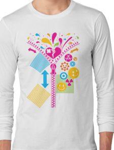 Zipper_Heart Long Sleeve T-Shirt
