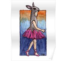 KMAY Hoodkid Bunny Ballerina Poster