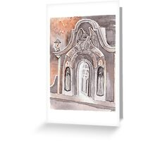 Open Grave Watercolor Painting Greeting Card