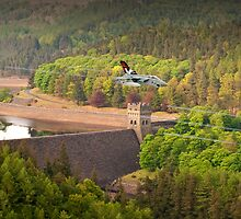 Tornado GR4s 617 Squadron Over The Howden Dam by Colin  Williams Photography