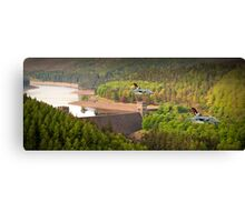 Tornado GR4s 617 Squadron Over The Howden Dam Canvas Print