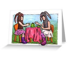 KMAY Hoodkid Bunny Tea Greeting Card