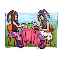 KMAY Hoodkid Bunny Tea Photographic Print