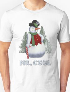 Mr Cool Snowman Humor T-Shirt