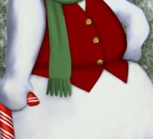 Mr Cool Snowman Humor Sticker