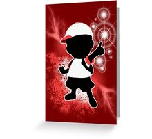 Super Smash Bros. White Ness Silhouette Greeting Card