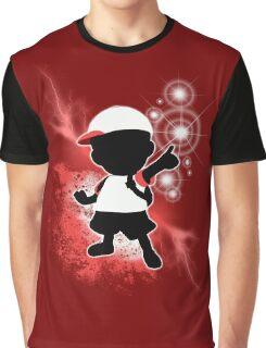 Super Smash Bros. White Ness Silhouette Graphic T-Shirt