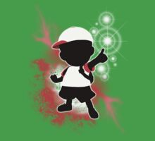 Super Smash Bros. White Ness Silhouette Kids Tee