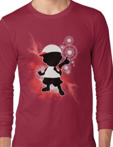 Super Smash Bros. White Ness Silhouette Long Sleeve T-Shirt