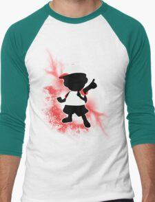 Super Smash Bros. White Ness Silhouette Men's Baseball ¾ T-Shirt