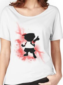 Super Smash Bros. White Ness Silhouette Women's Relaxed Fit T-Shirt