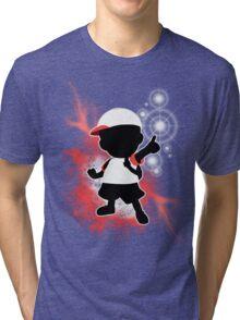 Super Smash Bros. White Ness Silhouette Tri-blend T-Shirt