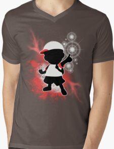 Super Smash Bros. White Ness Silhouette Mens V-Neck T-Shirt