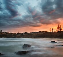 Sunset at Scotts Head by DonnaLB