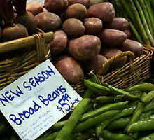 Broad Beans & Purple Potatoes by Tessa Manning
