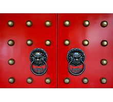 Chinese Door Knockers Photographic Print