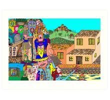 Tuscany intruders Art Print