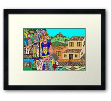 Tuscany intruders Framed Print