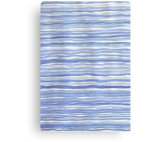 Blue Watercolor Stripes Modern Abstract Pattern Canvas Print
