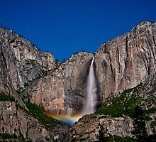 Moonbow @ Yosemite Falls by Cat Connor