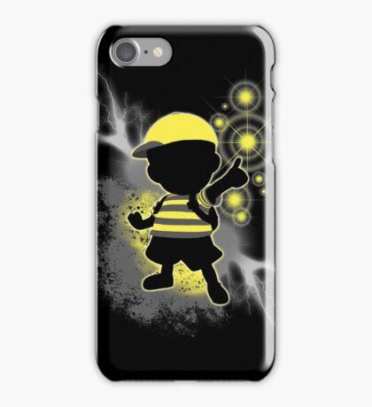 Super Smash Bros. Yellow/Black Ness Sihouette iPhone Case/Skin