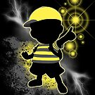 Super Smash Bros. Yellow/Black Ness Sihouette by jewlecho