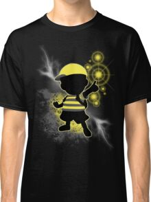 Super Smash Bros. Yellow/Black Ness Sihouette Classic T-Shirt