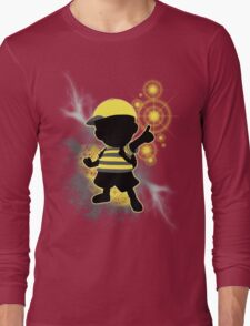 Super Smash Bros. Yellow/Black Ness Sihouette Long Sleeve T-Shirt