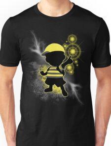 Super Smash Bros. Yellow/Black Ness Sihouette Unisex T-Shirt