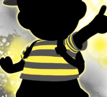 Super Smash Bros. Yellow/Black Ness Sihouette Sticker