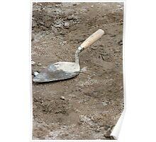 Concrete Trowel Poster