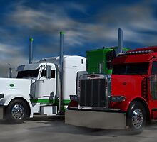 Peterbilt Semi Trucks by TeeMack