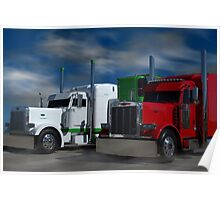 Peterbilt Semi Trucks Poster