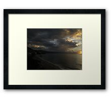 sunset with clouds - puesta del sol con nubes Framed Print