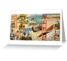 California Collage Art Greeting Card