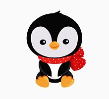 Christmas penguin with a red bow polka dot  Unisex T-Shirt