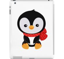 Christmas penguin with a red bow polka dot  iPad Case/Skin
