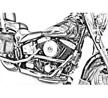 Harley Heritage: Silver Sketch Photographic Print