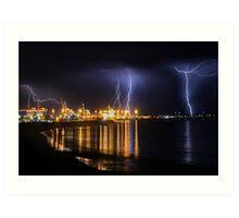 Fremantle Port Thunderstorm  Art Print