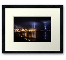 Fremantle Port Thunderstorm  Framed Print