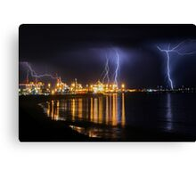 Fremantle Port Thunderstorm  Canvas Print