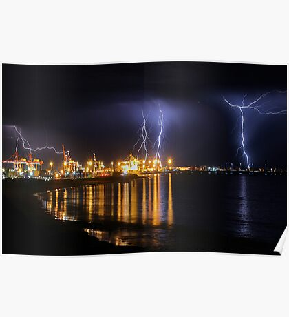 Fremantle Port Thunderstorm  Poster