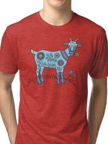 Blue Goat Tri-blend T-Shirt